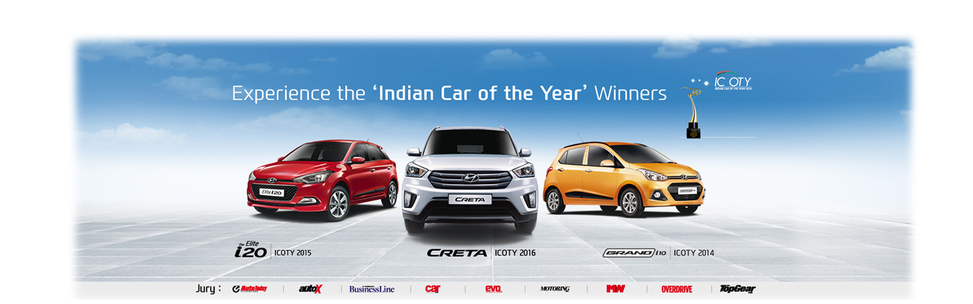 Hyundai Cars - icoty Award Winners - Shreenath Hyundai